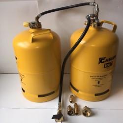 Doble bombona recargable GLP 11 kg con toma carga exterior