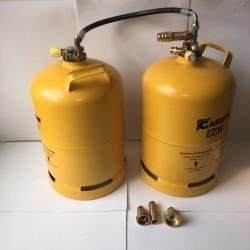 Doble bombona recargable GLP 11 kg con toma carga directa