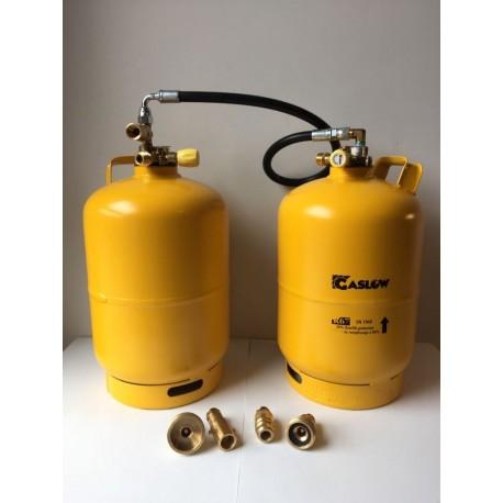 Doble bombona recargable GLP 6 kg con toma carga directa