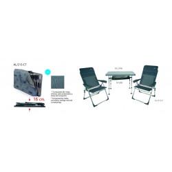 Conjunto de 2 sillones y mesa AL/213-CT
