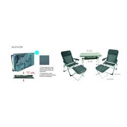 Conjunto de 2 sillones y mesa AL/213-CTR