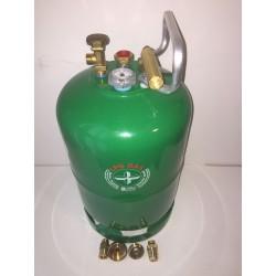 Bombona GLP 5 kg drcha carga directa+ 4 adaptadores